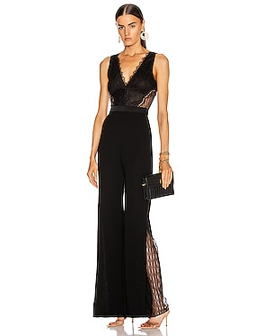 Sateen Lingerie Lace Jumpsuit