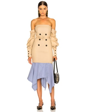 Tailored Off the Shoulder Corset Dress