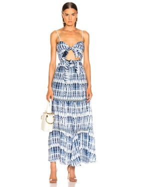 Hawaiian Sarong Bandeau Cut Out Dress