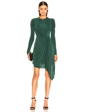 Sueded Jersey Wrap Dress