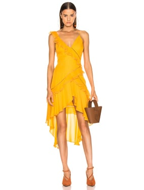 for FWRD Hi Low Ruffle Dress