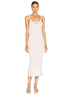 Melanie Cashmere Lace Tank Dress