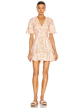 Zoey Belted Ruffle Mini Dress
