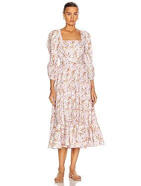 Ella Belted Midi Dress