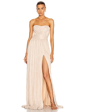 Rory Strapless Cross Front Gown