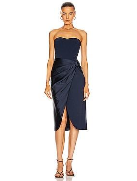 Spencer Combo Strapless Wrap Dress