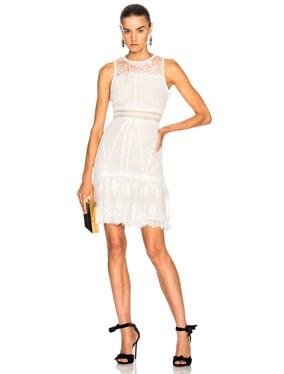Scallop Ripple Tier Ruffle Mini Dress