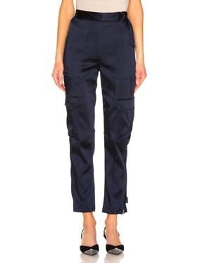 Structured Sateen Utility Pant