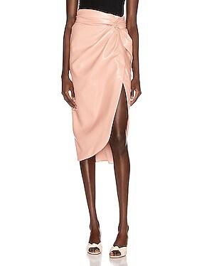 Vegan Leather Twist Skirt