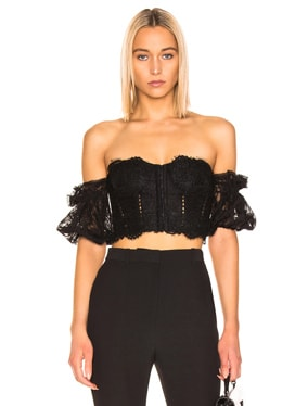 Multimedia Corded Lace Bustier Top