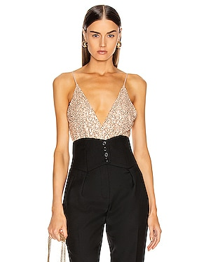 Speckled Sequin Cami Bodysuit