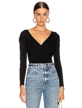 Deep Rib Wrap Top