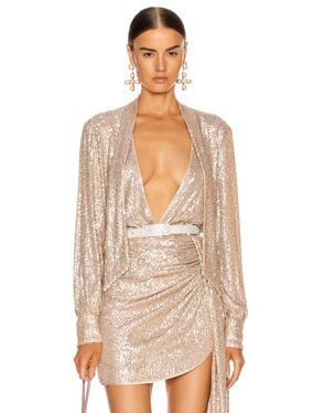 Sequin Cross Front Bodysuit