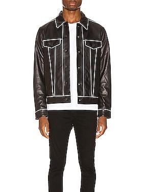 Leather Pajama Trucker Jacket
