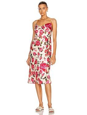 Nyla Cowl Neck Midi Slip Dress