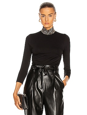 Mya Embellish Mock Neck Top