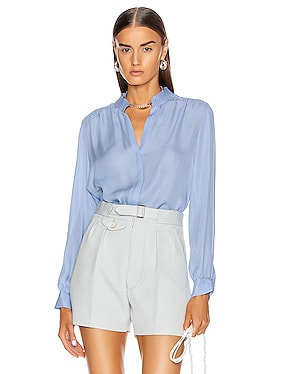 Bianca Band Collar Blouse