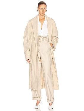 Tie Maxi Coat