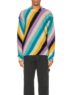 Stripe Mohair Sweater