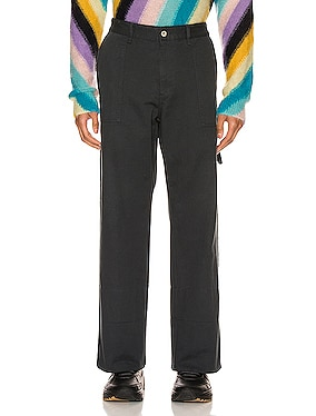 Turn Up Patch Pocket Trousers
