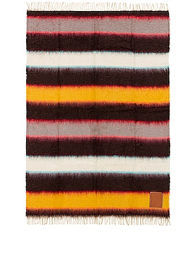 Mohair Stripes Blanket
