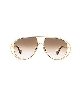 Metal Pilot Sunglasses