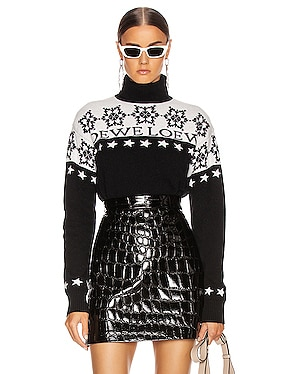 Snowflake Turtleneck Sweater