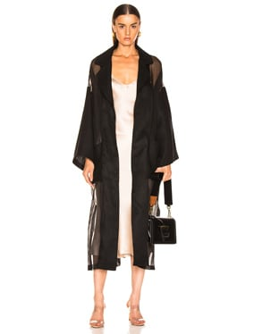 Organdy Oversize Belted Coat