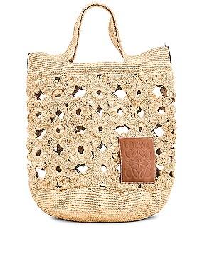 Slit Crochet Bag
