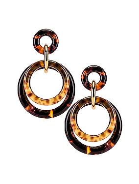 Golden Double Ring Earrings