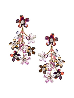 Small Crystal Floral Earrings