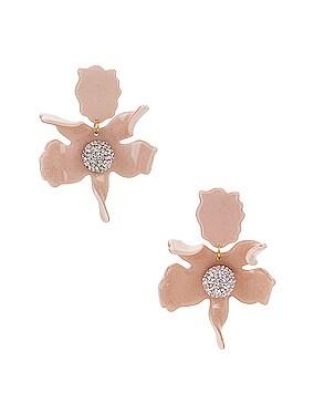 Crystal Lily Pierced Earrings