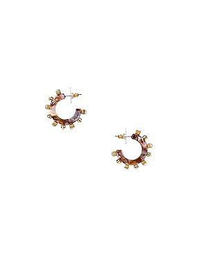 Crystal Block Huggie Earrings