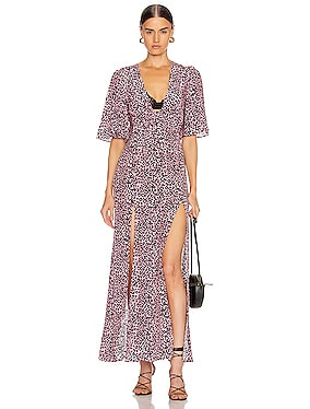 The Front Flutter Sleeve Dress with Slits