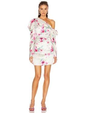 Off Shoulder Puff Sleeve Mini Dress