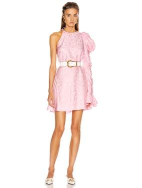x FWRD Asymmetrical Puff Sleeve Dress