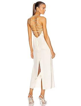 Lace Up Back Slip Dress