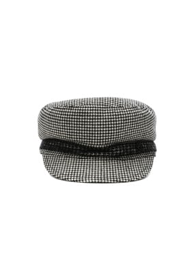 New Abby Wool Cashmere Dogtooth Hat