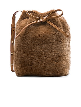 Shearling Mini Bucket Bag
