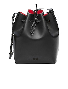 Coated Large Bucket Bag