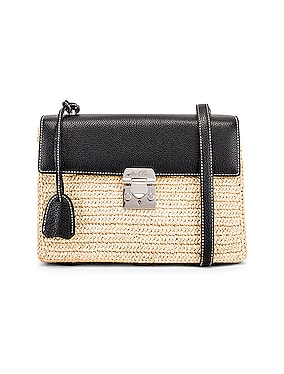 Downtown Raffia Bag