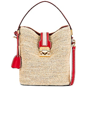 Murphy Raffia Bucket Bag