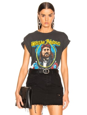 Willie Nelson On The Road Again Crew Tee