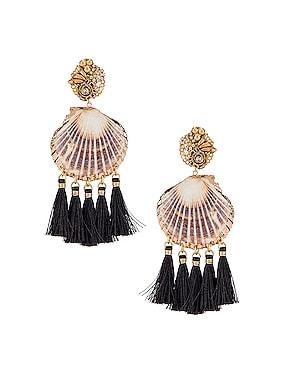 Fiesta Shell Tassel Earrings