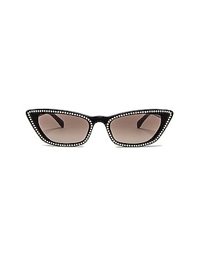Cat Eye Crystal Sunglasses