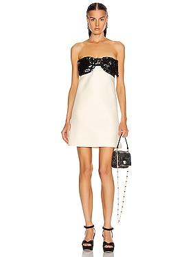 Strapless Bow Mini Dress