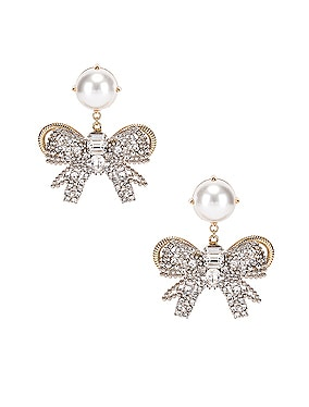 Pearl Bow Earrings