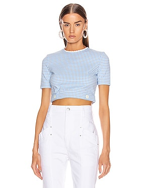 Short Sleeve Check Top
