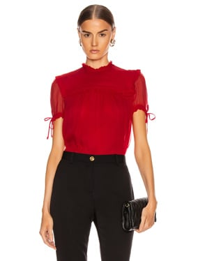 Short Sleeve Chiffon Top