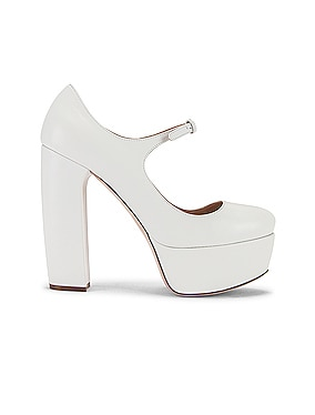 Plain Mary Jane Platform Heels